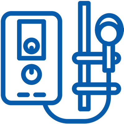 Water Heater Repairs Icon Blue